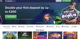 Casinoeuro frontpage