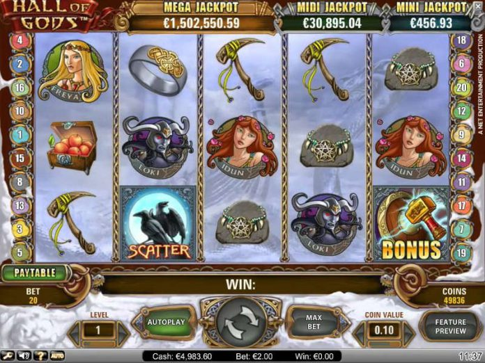 Hall of Gods slot live